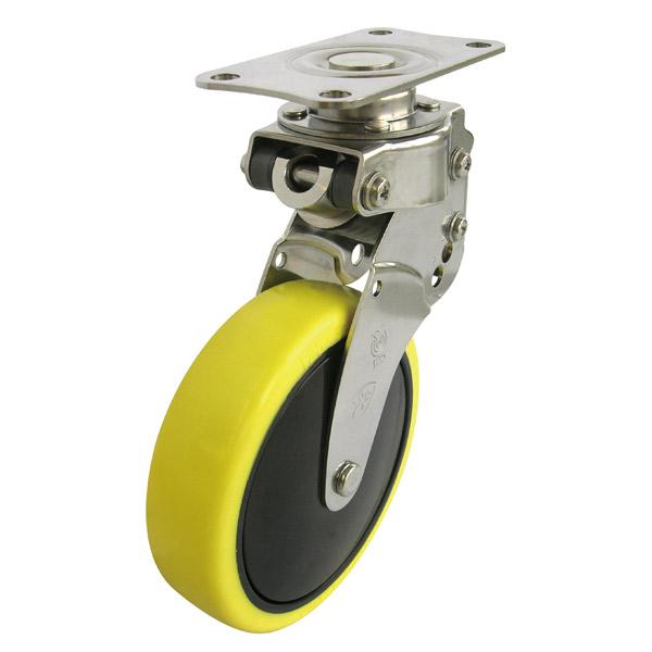 ユーエイ:SKYキャスター SKY-S型 自在キャスター ストッパー付 帯電防止性ウレタン(ナイロンホイル,B入)車 車輪径 φ100 SKY-S100SUES-3