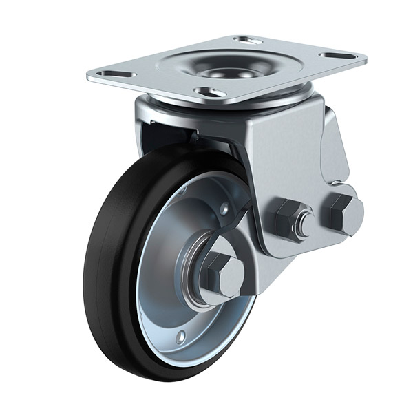 ユーエイ:SKYキャスター SKY-2S型 自在キャスター 耐摩耗ゴム(鋼板ホイル,B入)車 車輪径 φ200 SKY-2S200WF(AR)-A-1