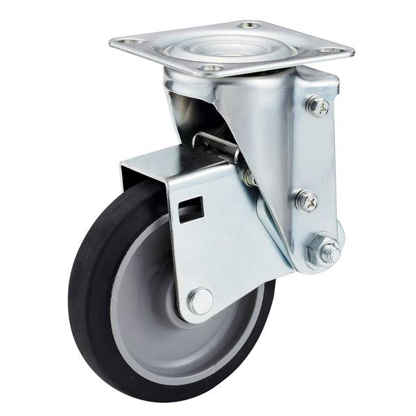 ユーエイキャスター:SKYキャスター SHSKY型 自在キャスター ゴム(ナイロンホイル,B入) 車輪径 Φ125 SHSKY-S125NRB-30
