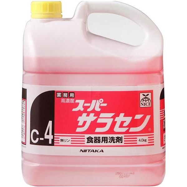 ニイタカ:スーパーサラセン 4kg×4 211842 衛生 清潔 キッチン 厨房 業務用