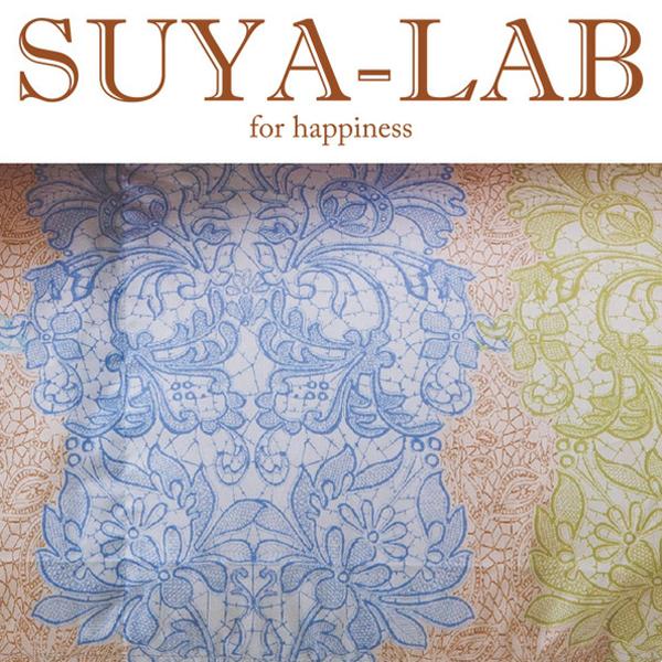 SUYA-LAB:ウォッシャブル羽毛肌掛けふとん ボタニーレース DL ブルー 22112-03729/300