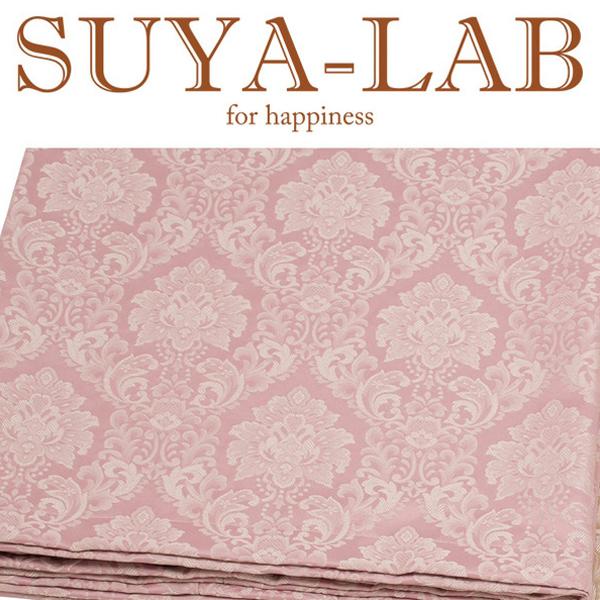 SUYA-LAB:ベッドスプレッド ダマスク B-S ピンク 22410-89618/108