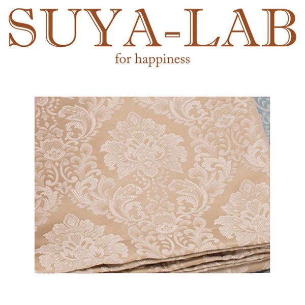 SUYA-LAB:ベッドスプレッド ダマスク B-S ベージュ 22410-89618/207
