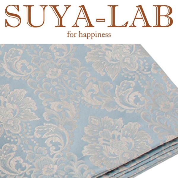 SUYA-LAB:ベッドスプレッド ダマスク B-S ブルー 22410-89618/306