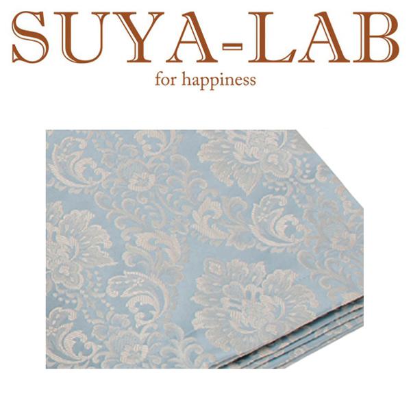 SUYA-LAB:ベッドスプレッド ダマスク B-D ブルー 22410-89827/302