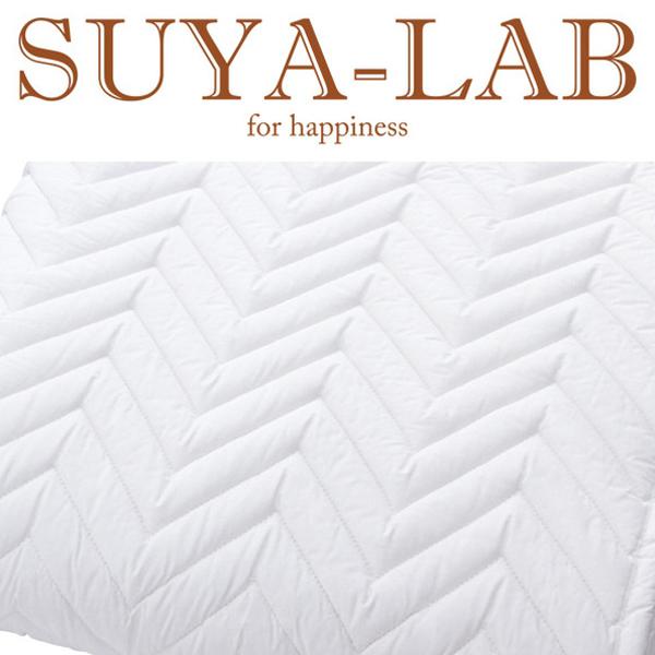 SUYA-LAB:ポリエステルベッドパッド SU3918 Q ホワイト 22411-85915/996