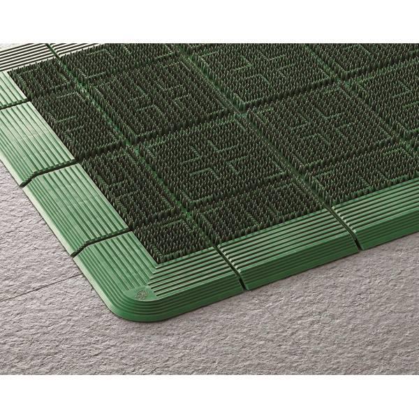 【代引不可】山崎産業:エバック クロスハードマット #15 (900×1500) グリーン F-112-15