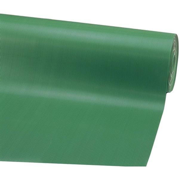 【代引不可】山崎産業:ゴム筋入長マット (幅1200mm×10m)(6mm厚) グリーン F-25-12-6