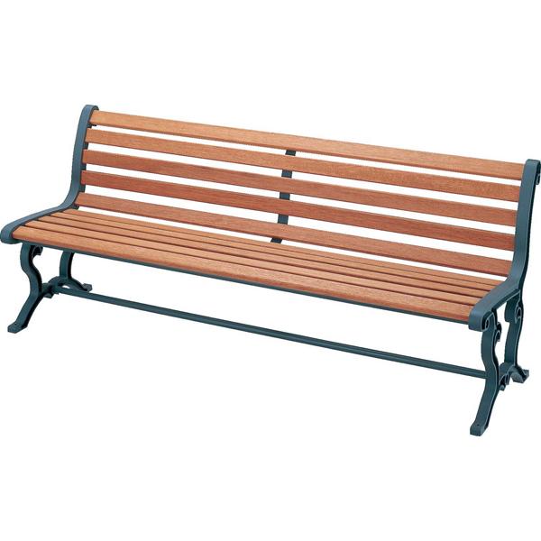 ベンチ 椅子 イス 屋内 屋外 屋内外 室内 室外 天然木 4903180476695 山崎産業:(屋内外用) 天然木ベンチ (背付・肘なし) YB-78L-WN 公園 ショッピングモール 施設 錆びにくい