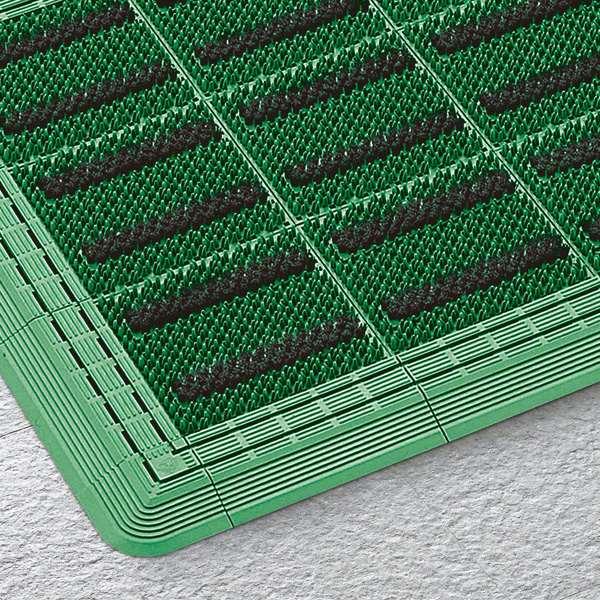 山崎産業:エバック ブラシハードマットYL #6(600×900) G(グリーン) 縁あり F-117-6
