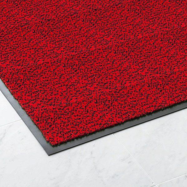 【代引不可】山崎産業:ロンステップマット ランナーS (幅900mm×20m) 赤黒 F-1-RS
