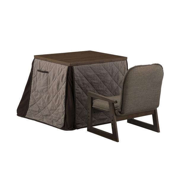 YUASA(ユアサ):ミドルこたつ・布団・椅子3点セット(ミドルブラウン) 新なごみワイドMB NGM-N69DLH(MB)