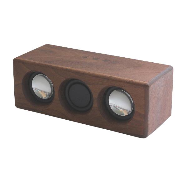 ヨシモク:SOUND FLY L 木製無線スピーカー ウォールナット SF-L WN