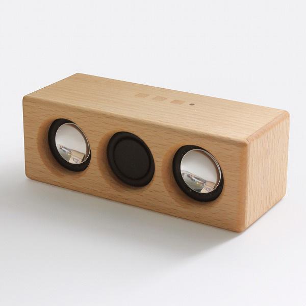 ヨシモク:SOUND FLY L 木製無線スピーカー ブナ SF-L BE