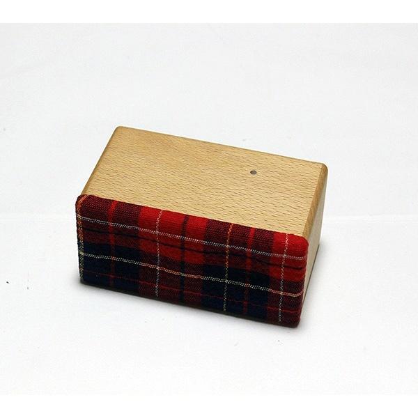ヨシモク:SOUND FLY Mini 木製無線スピーカー ウォールナット 赤チェック SF-M WR