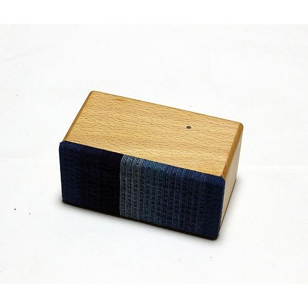 ヨシモク:SOUND FLY Mini 木製無線スピーカー ブナ 藍グラデーション SF-M BA
