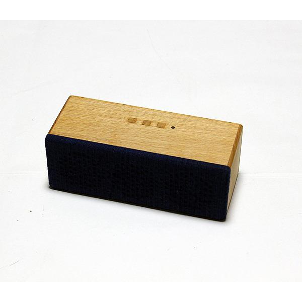 ヨシモク:SOUND FLY SJ 木製無線スピーカー ブナ 藍無地 SF-SJ BA
