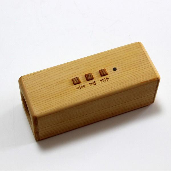 ヨシモク:SOUND FLY 木製スピーカー 檜 SF-HI