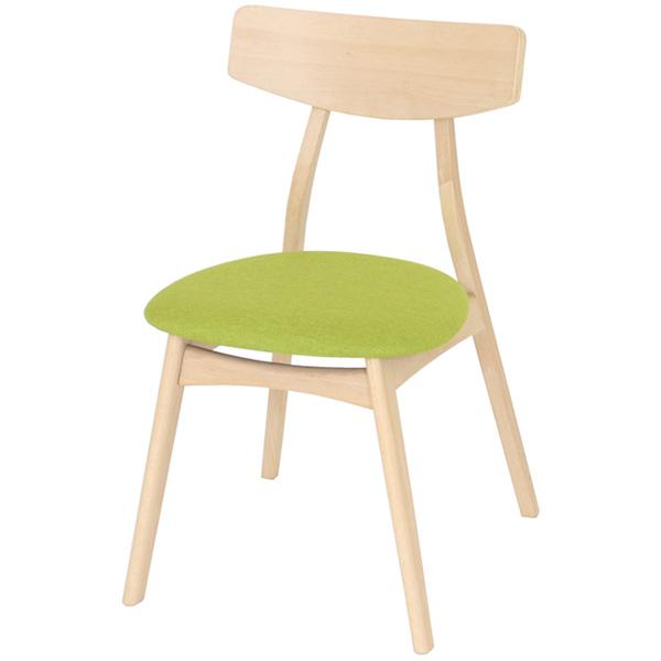 ヤマソロ:Yummy ヤミー ダイニングチェア 2脚組 グリーン ダイニング 食卓 チェア 椅子 ビーチ材 83-821