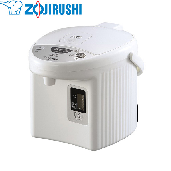 象印マホービン:電動ポット 1.4L ホワイト CD-KG14-WA