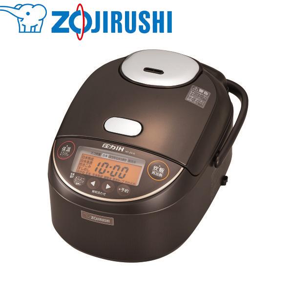 象印マホービン:圧力IH炊飯ジャー 極め炊き 5.5合 ダークブラウン NP-ZS10-TD
