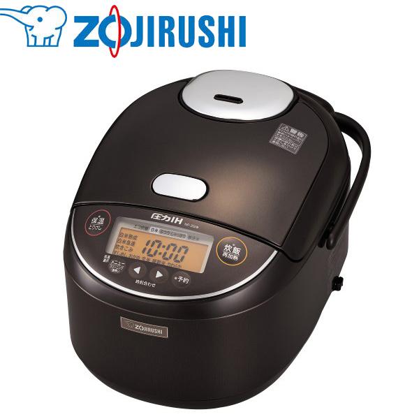 象印マホービン:圧力IH炊飯ジャー 極め炊き 1升 ダークブラウン NP-ZG18-TD
