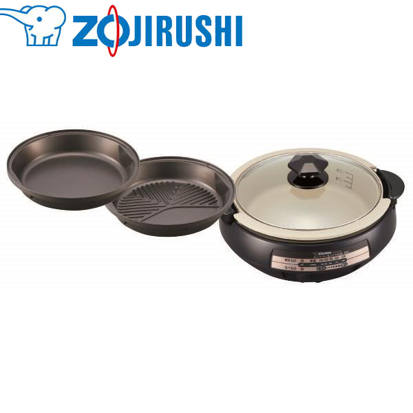 象印マホービン:グリルなべ 3枚 ブラウン EP-PX30-TA 料理 調理 キッチン 鍋