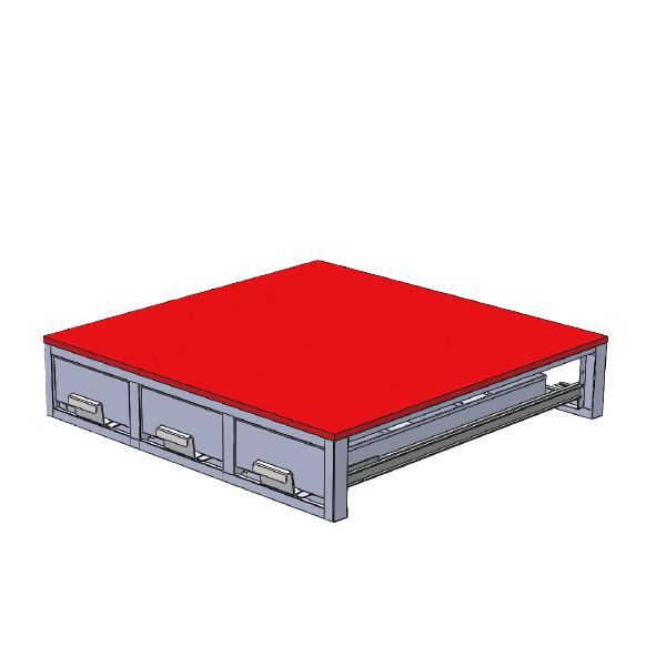 ジェフコム:バンキャビネット(3列引き出し) SCT-F01 車載用 収納棚 整理整頓 ツール 工具 整備