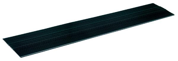 DENSAN:ケーブルマット JC-20426BK ケーブル保護 安全 通行 ズレ防止 工事現場 機材置場 施設搬入口 スタジオ 看板