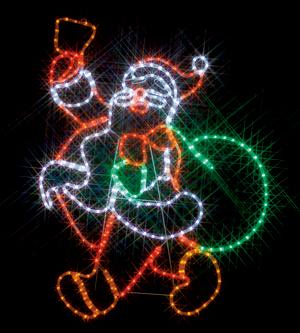 クリスマス サンタクロース DENSAN:LED ルミネーション (連結タイプ) SJ-A23-N LEDモチーフ(全点灯タイプ)