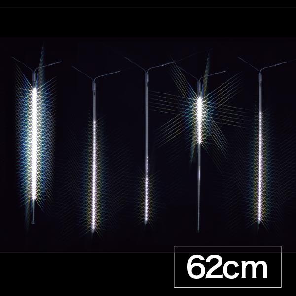 JEFCOM(ジェフコム):LEDフォール 62cmタイプ 白 12本入り SJ-E0960-W