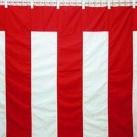 八光舎:紅白幕 3間物 180×540cm  818128