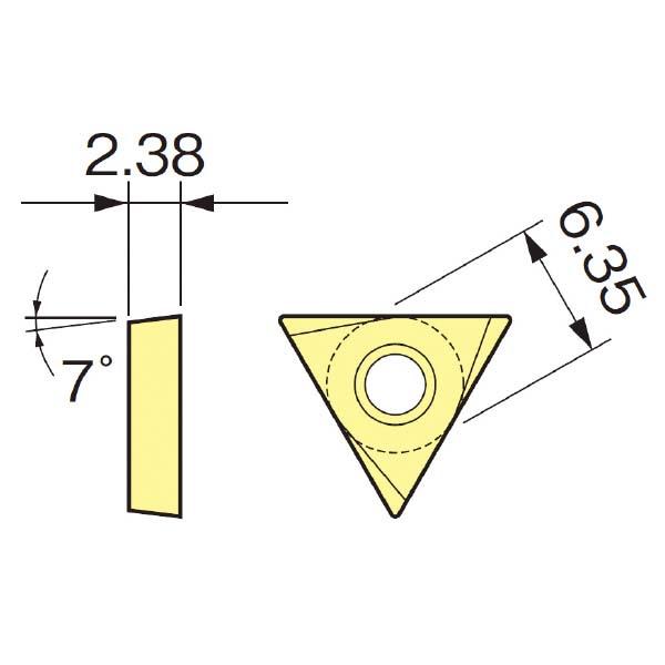 大昭和精機:スローアウェイチップ TCGT110204FNH1ZX