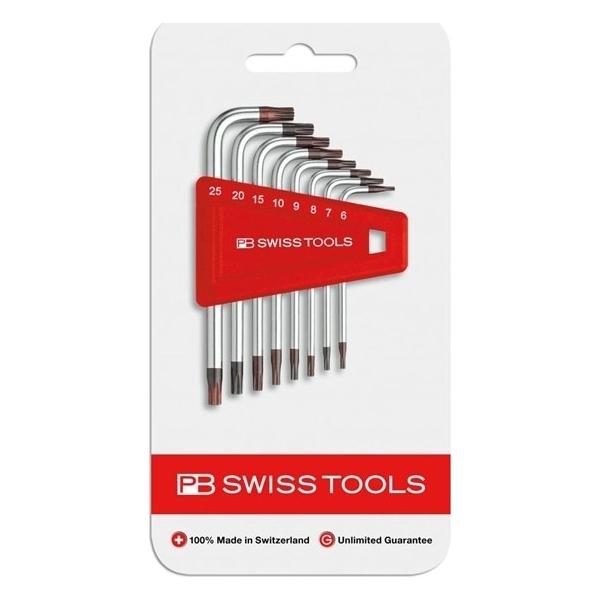 PB SWISS TOOLS(PBスイスツールズ):L型ヘクスローブレンチセット(6本組) 410H8-25CN