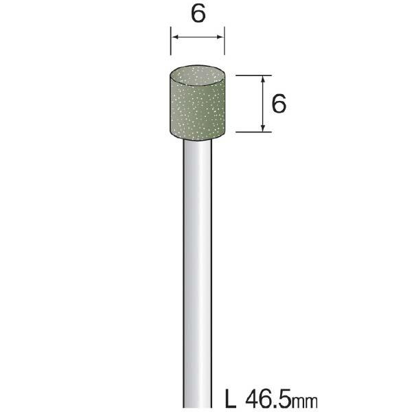 ミニター:(#A4664)レジンボンドダイヤモンドバー(1コ) JA1404
