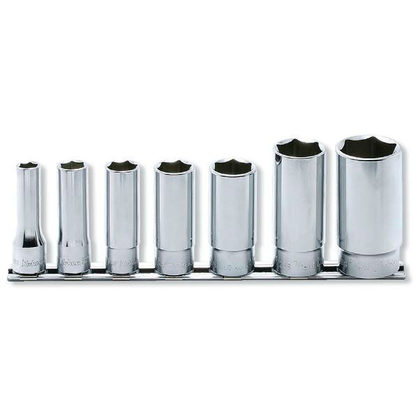 Ko-ken(コーケン):6角ディープソケット(英国規格(BSW)ソケット)レールセット 7点 3/8゛(9.5mm) RS3300W/7