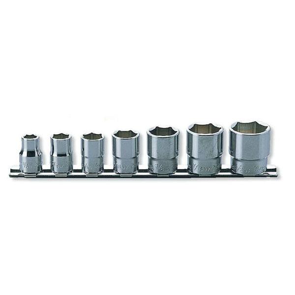Ko-ken(コーケン):6角ソケット(英国規格(BSW)ソケット)レールセット 7点 3/8゛(9.5mm) RS3400W/7