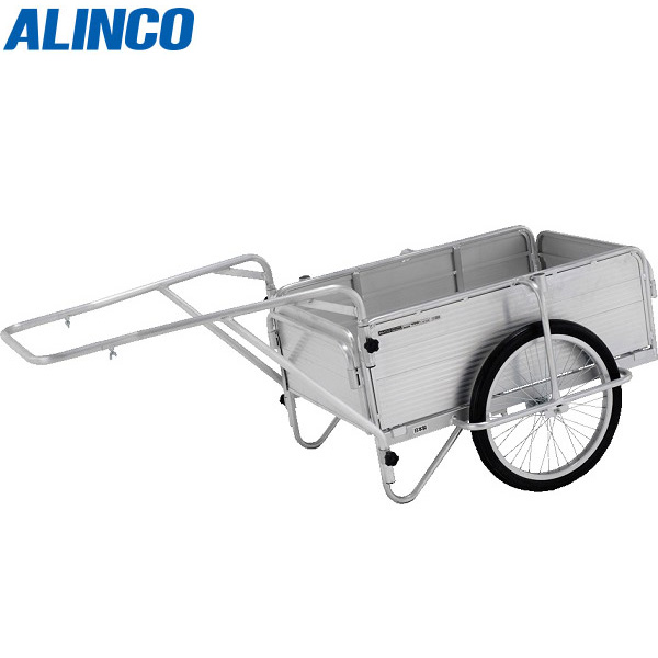 【代引不可】アルインコ:折りたたみリヤカー(ノーパンクタイヤ標準装備) HKM 全長900mm 全幅600mm HKM150