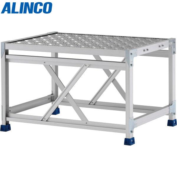 アルインコ:ステンレス金具仕様作業台(天板縞板タイプ) 1段 CMT 天板高さ 500mm CMT158WS