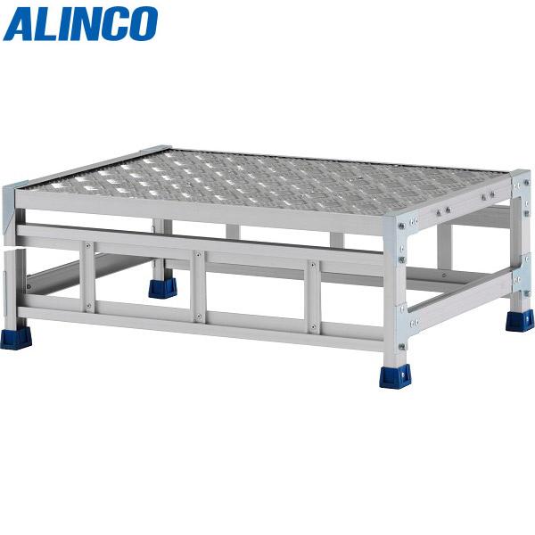 【代引不可】アルインコ:ステンレス金具仕様作業台(天板縞板タイプ) 1段 CMT 天板高さ 300mm CMT138WS