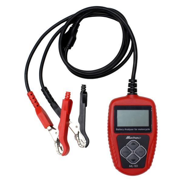 Meltec(メルテック):バッテリー診断機 バイクバッテリー専用 カー用品 バッテリー バッテリーチェッカー 診断器 バイク用 ML-101