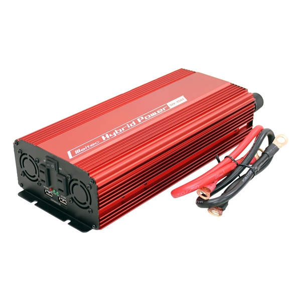 Meltec(メルテック):USB&コンセント 静音タイプ 1500W DC24V用 AC100V・USBポート SIV-1501