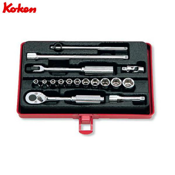 Ko-ken(コーケン):ソケットセット 1 4゛(6.35mm) 2261M