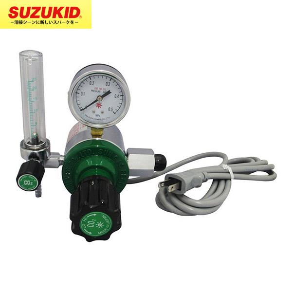 SUZUKID(スズキッド) :CO2用レギュレータ CR-100(ヒータ付) P-639