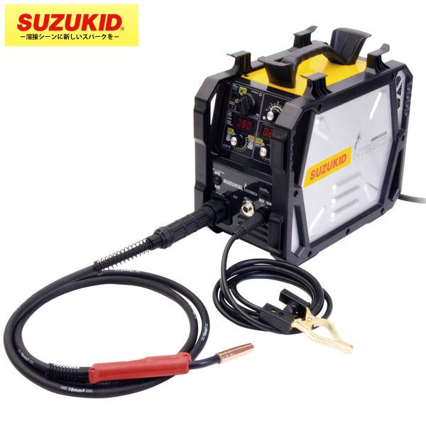 SUZUKID(スズキッド) :ノンガス/MIG/MAG 直流インバータ 半自動溶接機アイミーゴ SIG-140 小型 軽量 ダイヤル操作 デジタル表記