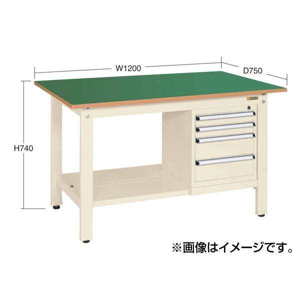 【代引不可】SAKAE(サカエ):軽量作業台KKタイプ スモールキャビネット付 KK-49SSL4I