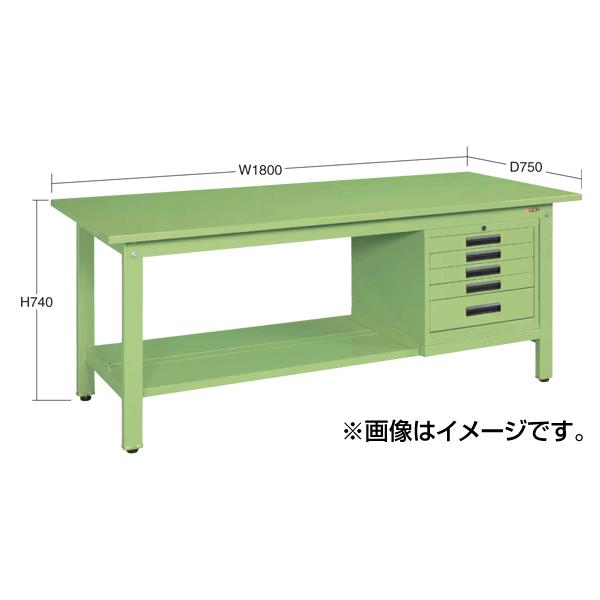 SAKAE(サカエ):軽量作業台KKタイプ SVEキャビネット付 KK-69FSVE52