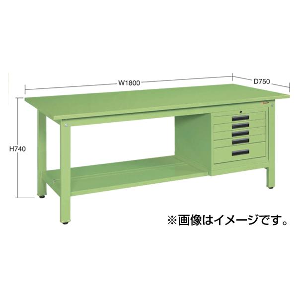 【代引不可】SAKAE(サカエ):軽量作業台KKタイプ SVEキャビネット付 KK-69SSVE42
