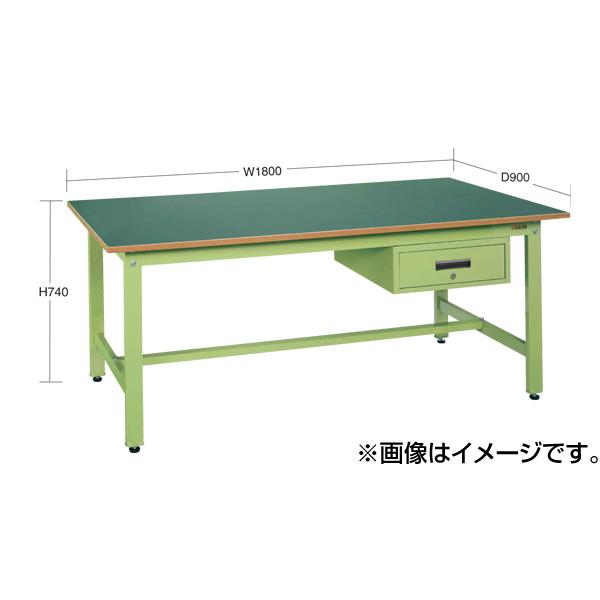 【代引不可】SAKAE(サカエ):軽量作業台KKタイプ深型キャビネット付 KK-1890F1I