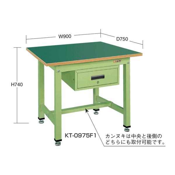 SAKAE(サカエ):中量作業台KTタイプ深型キャビネット付 KT-0975F1